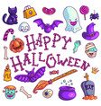 poster with colorful halloween greeting vector image