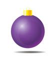 purple christmas ball 01 vector image vector image