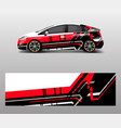 racing car wrap abstract strip shapes for car vector image
