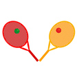 rackets for tennis vector image vector image