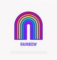 rainbow thin line icon lgbt symbol vector image