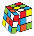 rubik cube vector image vector image