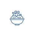 salad bowl line icon concept salad bowl flat vector image vector image