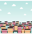 Seamless background pattern with colorful town vector image vector image