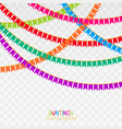 set of pink patchwork vector image