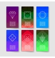 Set of Trendy Abstract Cards with Mystic Logos vector image vector image
