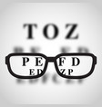 short sighted logo vector image