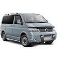 silver passenger van vector image vector image