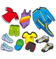 sport clothes collection vector image