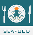 Squid Fork and Knife vector image vector image