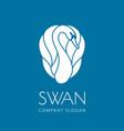 swan logo sign emblem-17 vector image vector image