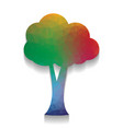 tree sign colorful icon with vector image