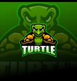 turtle esport mascot logo design vector image vector image