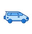 wagon car line icon vector image