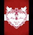Wedding invitation card Vintage ornate card vector image