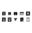 calendar date icon set simple style vector image