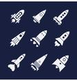 rocket icons set vector image