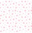 Shining little hearts seamless pattern vector image