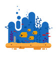 the flock tropical butterfly fish swims on depth vector image