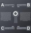 Keys modern infographic Design elements vector image