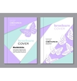 Modern templates for brochure cover vector image