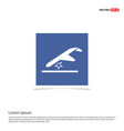 airplane accident icon - blue photo frame vector image vector image