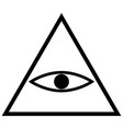 all seeing eye symbol the black color icon vector image vector image