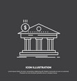 architecture bank banking building federal icon vector image vector image