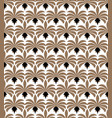 Art deco seamless pattern geometric floral