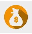bag money yellow design vector image