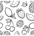 beautiful seamless pattern with cute doodle vector image vector image