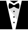 Black and white bow tie tuxedo vector image