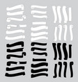 black and white ribbon banner vector image vector image