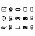 Black Mobile Devices Icon set vector image