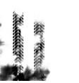 black vertical halftone tire track vector image vector image