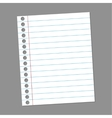 Blank paper note for records vector image