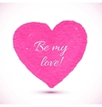 bright pink marker textured heart vector image vector image