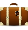 Brown Travel Suitecase vector image