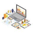 business analysis isometric vector image vector image
