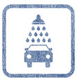 car shower fabric textured icon vector image vector image