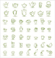 cups and teapots doodles vector image vector image