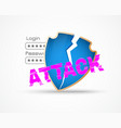 data security attack theme vector image vector image