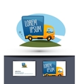 delivery logo design template truck or business vector image vector image