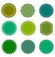 eco organic natural blank green badges vector image