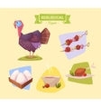 farm animal and products made out them vector image