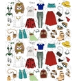 Fashion clothing set vector image vector image