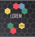 geometric hexagon pattern design set vector image