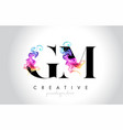 gm vibrant creative leter logo design with vector image vector image