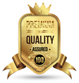 Gold tag premium quality vector image vector image