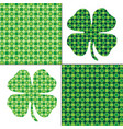 green shamrock patterns vector image vector image
